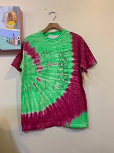 Mamy Ann Green and Purple Tie Dye- Fridge