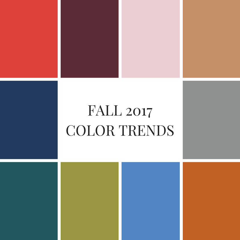 Fall 2017 Color Trends