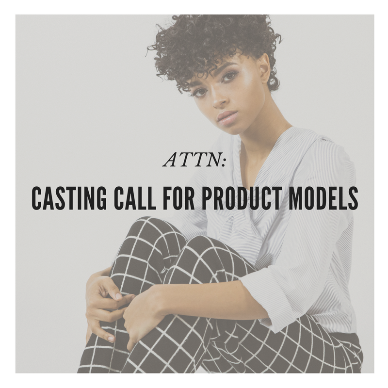 Casting Call for Product Models