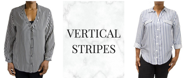 Vertical Stripes were common for spring 2018 at NYFW