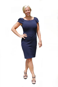Diane Von Furstenberg Navy Helen Sheath Dress