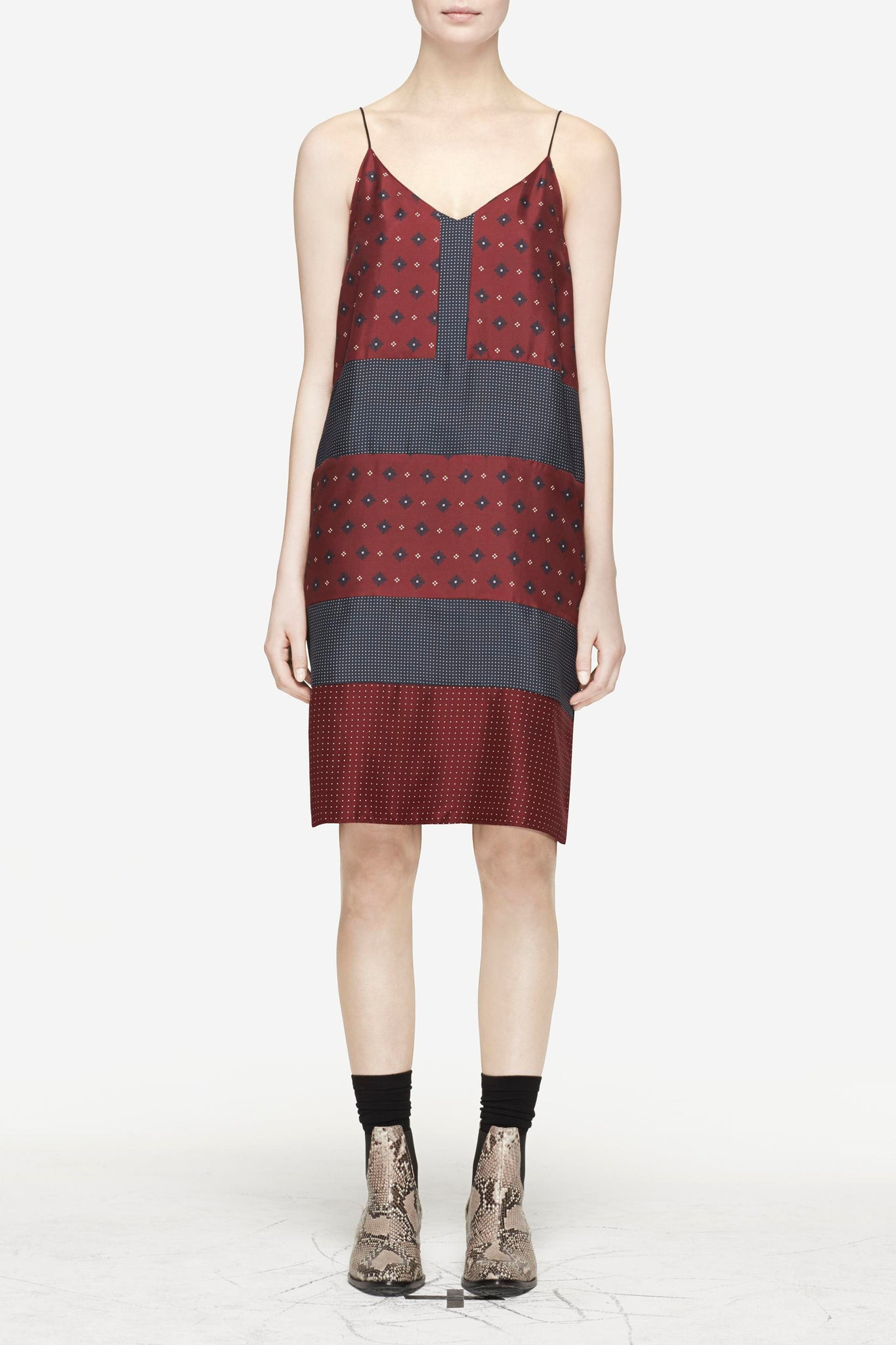 "Rag & Bone Cab Diamond ""Harris"" Silk Dress"