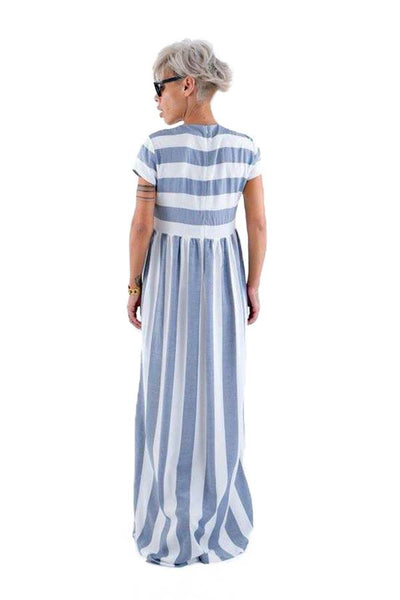 Blue and White Infinity Maxi Dress