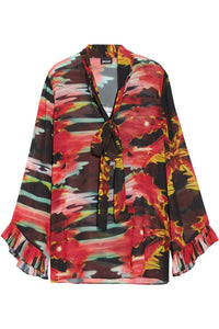 Just Cavalli Printed Georgette Top
