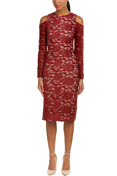 Alice + Olivia Laila Cutout Lace Dress