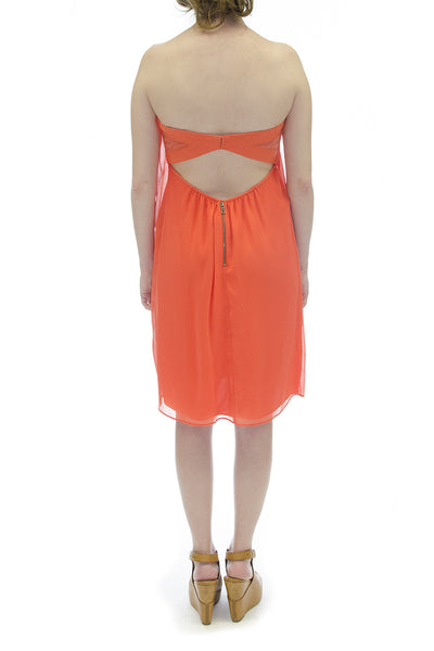 Alice + Olivia Strapless Orange Mini