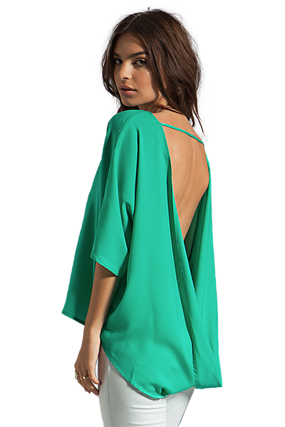 Blaque Label Open Back Top in Aqua