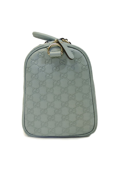 Gucci Joy Light Blue Gg Imprimé Boston Bag