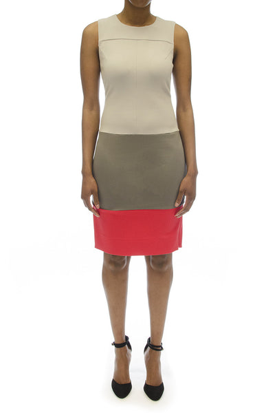 "Diane Von Furstenberg ""Sharby"" Colorblock Dress"