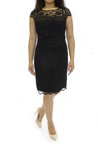 Eliza J Cap Sleeve Lace Sheath Dress