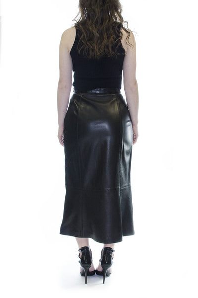 Escada Black Leather Midi