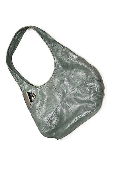Halston Heritage Patent Leather Hobo Bag, Spearmint Metallic