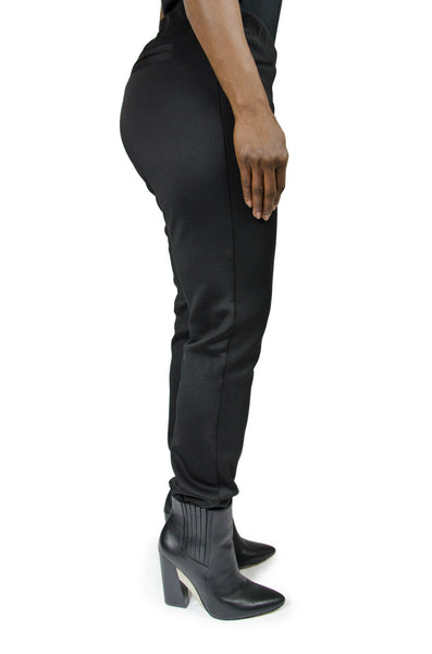Halston Black Stirrup Pants