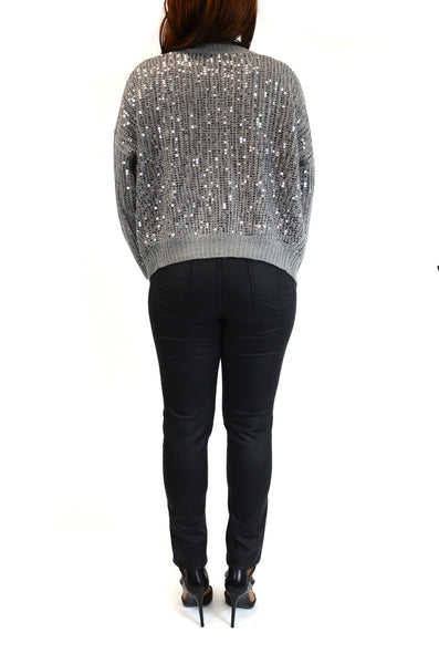 Hooper Sequin Grey Cardigan