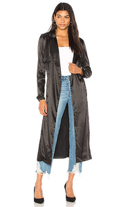 Lioness Black Satin Duster