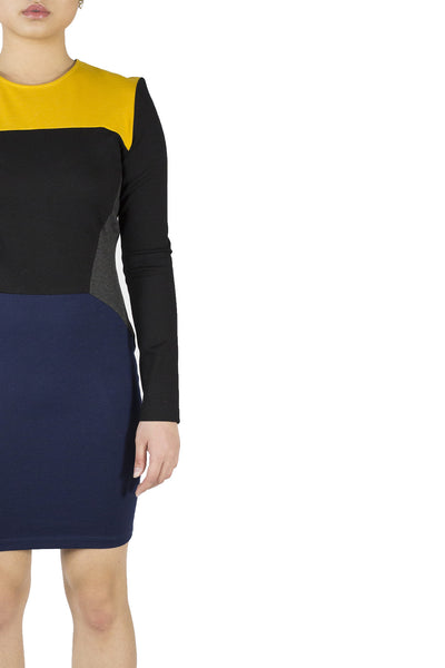 Ronny Kobo Color Block Dress