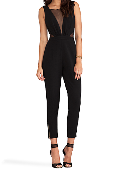 Lumier By Bariano Beautiful Mistake Jumpsuit in Black