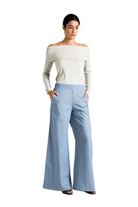 Marcellamoda Light Blue Palazzo Pants