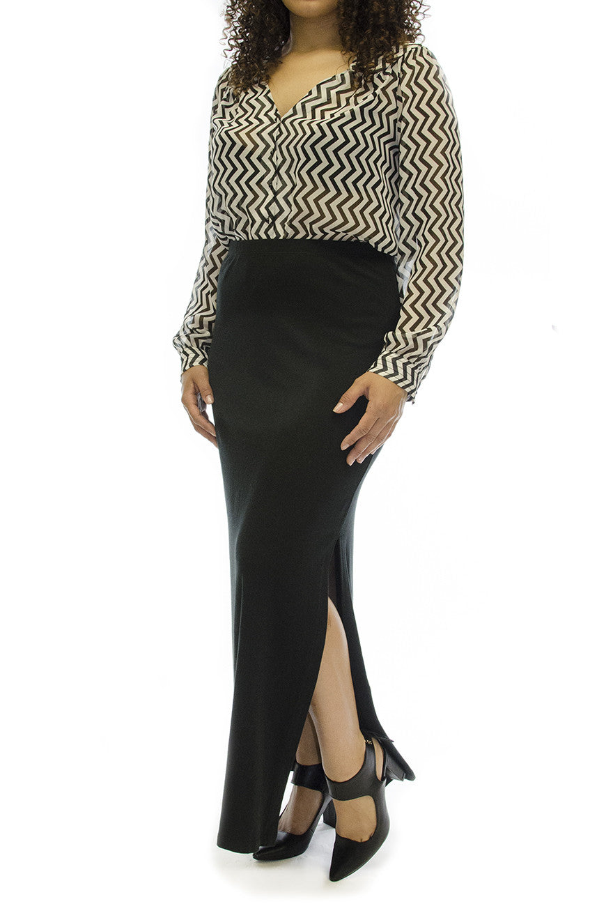 Michael Kors Black Maxi Skirt