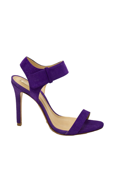 Schutz Purple Open Toe Heel With Ankle Strap