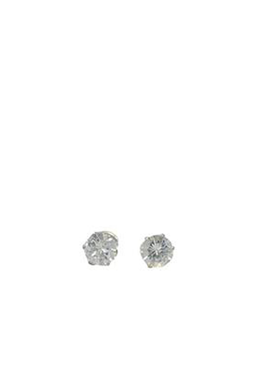 Everly Clear Round Studs