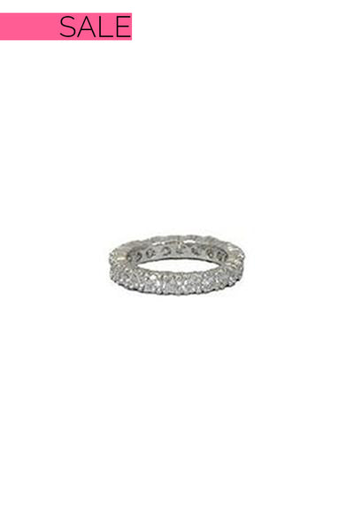 Everly Silver Clear Stone Band