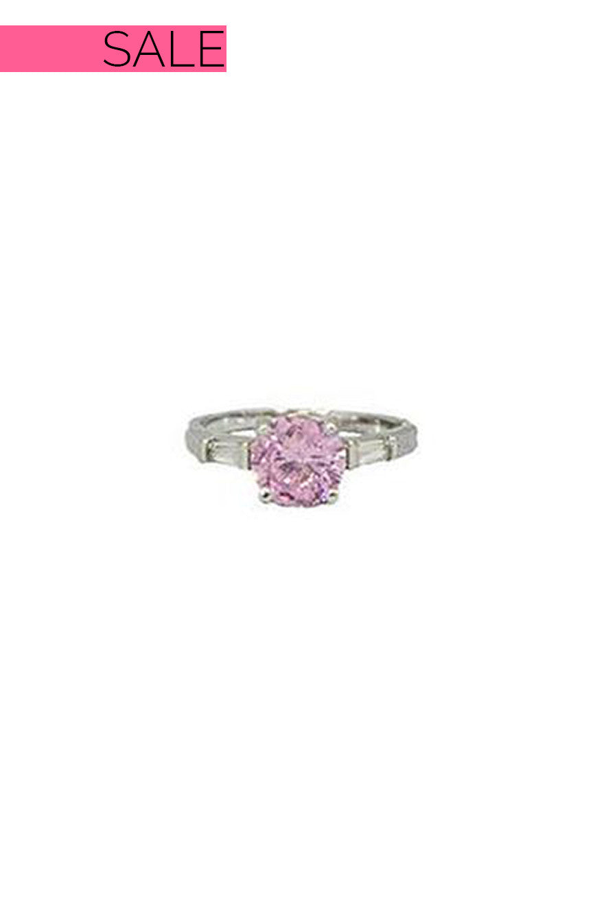 Everly Round Pink Stone Ring