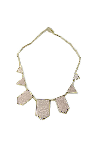 House of Harlow Pink Geometric Necklace