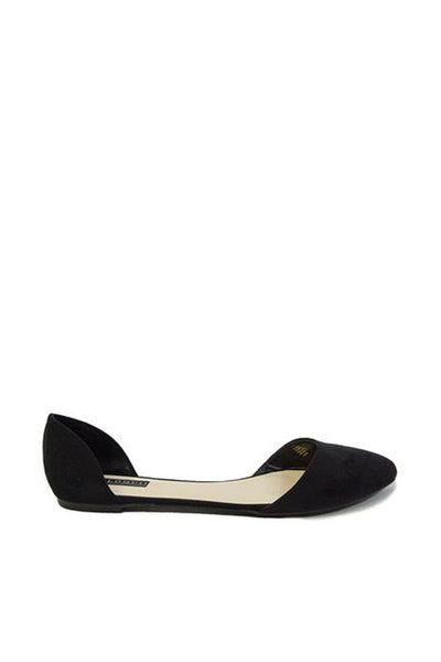 Black Side Cut Out Flats