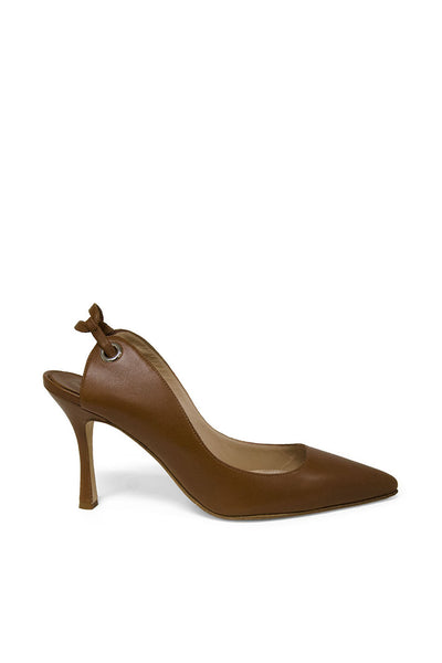 Manolo Blahnik Saddle Tie Back Pumps