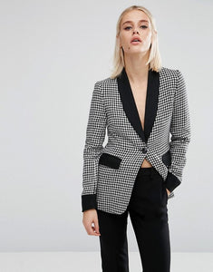 Fashion Union Houndstooth Blazer Co-Ord