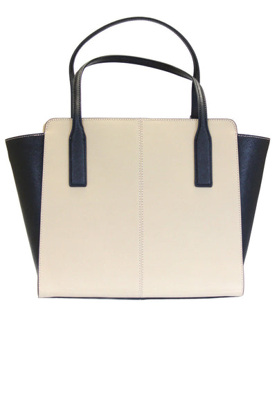 Calvin Klein Saffiano Leather Colorblock Tote