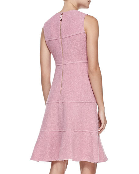 Kate Spade Fluted Boucle Pink Dress
