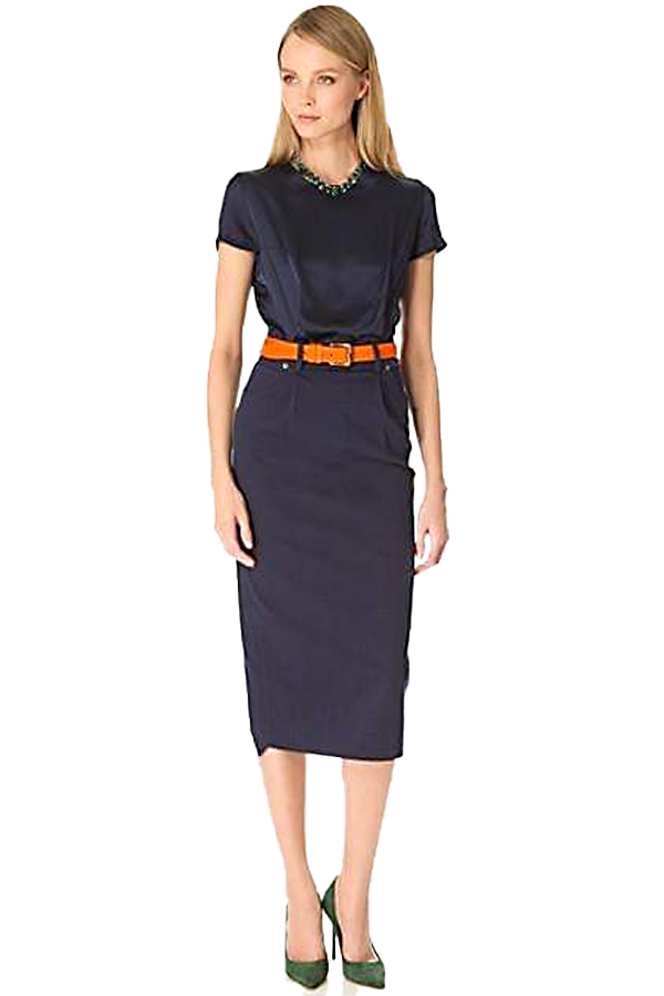 Preen Line Navy Carla Dress