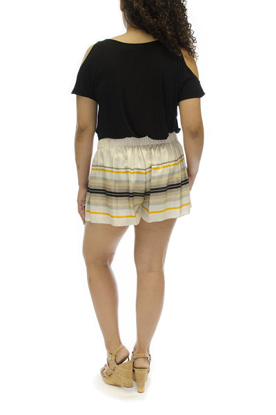 "Rag & Bone Silk Multicolor Striped ""Holten"" Short/Skirt"
