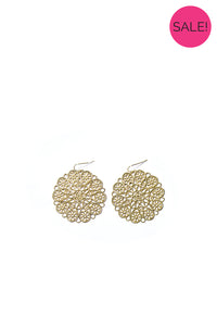 Gold Lace Detail Earrings