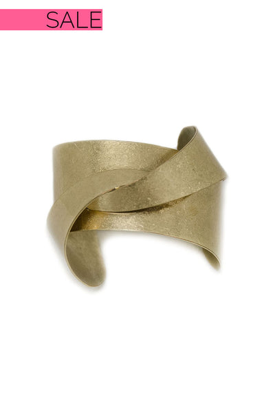 Gold Twist Detail Cuff