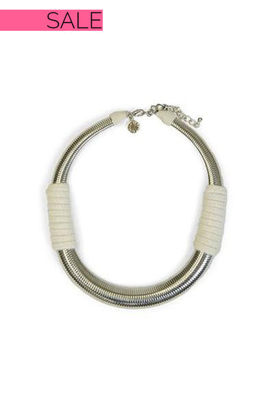 Silver Banded Choker