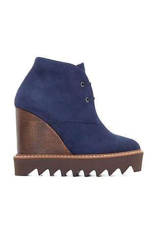 STELLA MCCARTNEY Concealed Wedge Navy Ankle Boot