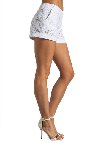 Trina Turk White Crochet Shorts