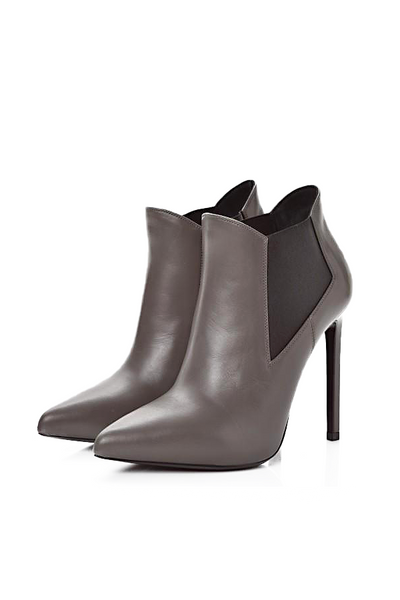 Yves Saint Laurent Leather Stiletto Heel Ankle Boot