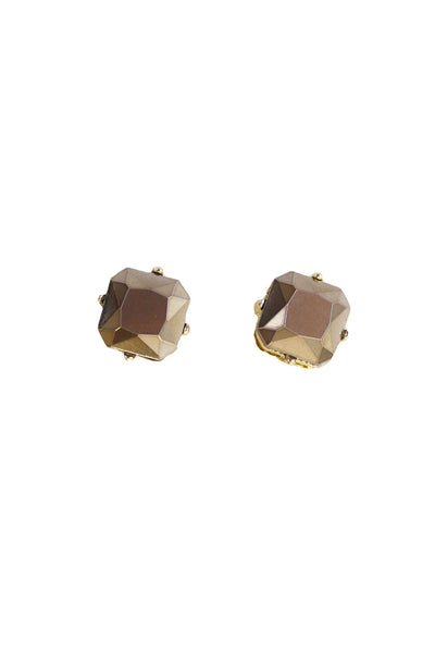 Amber Rhinestone Stud Earrings