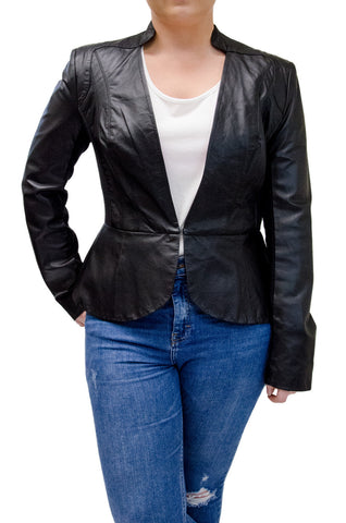 Bebe Black Leather Blazer
