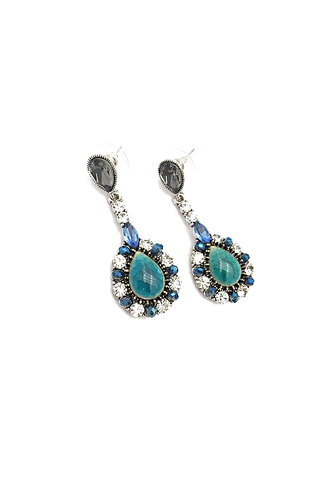 Blue & Turquiose Teardrop Earrings