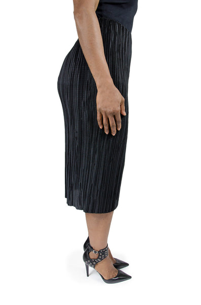 "Black ""Plisse"" Tube Skirt"
