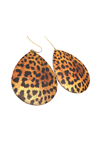 Cheetah Printed Earrings