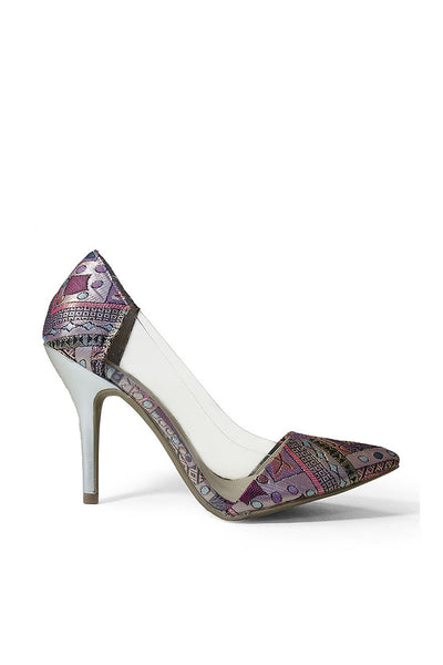 Chinese Laundry Fairytale Brocade & Lucite Pumps