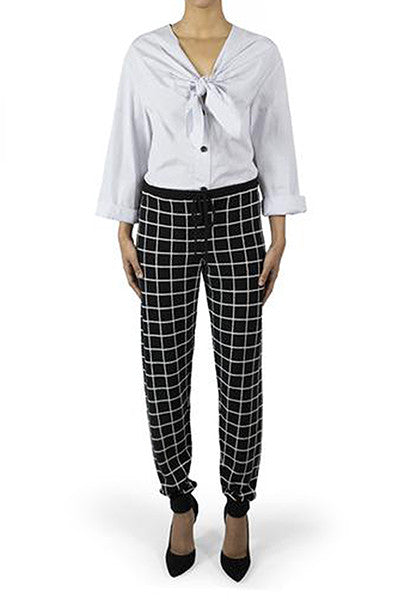 Chinti + Parker meets Patternity Black & White Cashmere Leggings