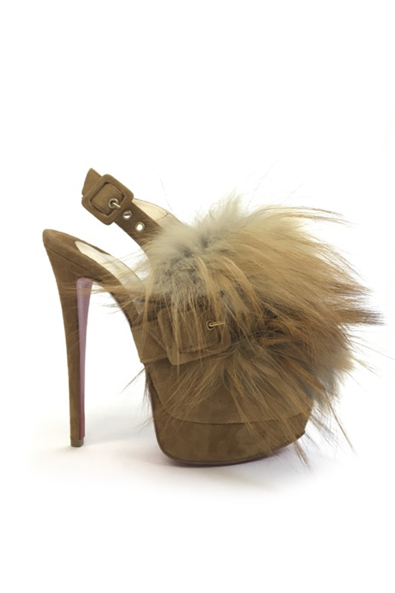 Christian Louboutin Splash Fur Slingback