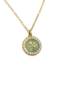 Four Leaf Clover Enamel Necklace